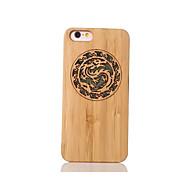 Voor Schokbestendig Reliëfopdruk Patroon hoesje Achterkantje hoesje Dier Hard Bamboe voor Apple iPhone 6s/6
