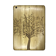 For Embossed Case Back Cover Case Tree Hard Wooden for Apple iPad Air
