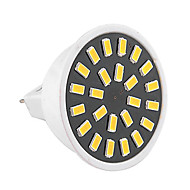 5W GU5.3(MR16) תאורת ספוט לד MR16 24 SMD 5733 400-500 lm לבן חם לבן קר דקורטיבי AC 220-240 AC 110-130 V חלק 1