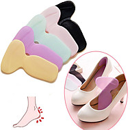 1 Pair Soft Silicone Multicolor Insole Pads High Heel Gel Foot Care Protector Anti Slip As Shoe Style Randomly