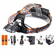 U'King® ZQ-X827B#-UK CREE 1*T6/2*XPE 5000LM Zoomable Multifunction 4Modes Headlamp Bicycle Light Kits