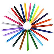 24 farver plast farveblyanter 1 sæt af 24 stk