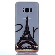 Mert Foszforeszkáló Minta Case Hátlap Case Eiffel torony Puha TPU mert Samsung S8 S8 Plus S7 edge S7 S6 edge plus S6 S5 S4 Mini S4 S3