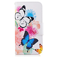 For Samsung Galaxy A3(2016) A5(2017) Case Cover Butterfly Pattern PU Material Painted Mobile Phone Case A3(2017) A5(2016)