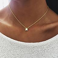Női Nyaklánc medálok Ékszerek Ötvözet Star Shape Egyedi Függő Multi-módon kell viselni Arany Ezüst ÉkszerekSzületésnap Eljegyzés Napi