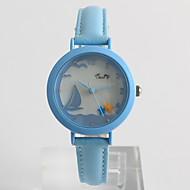 Dress horloge Modieus horloge / Kwarts PU Band Vrijetijdsschoenen Wit Blauw Paars