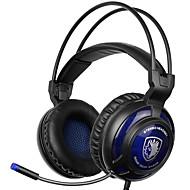 sades SA-805 3,5 mm gaming headset med mikrofon støyreduksjon musikk hodetelefoner svart-blå for PS4 laptop pc mobiltelefoner