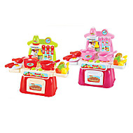 Kids' Cooking Appliances Model & Building Toy Toys LED Lighting Sound Toys ABS Red Pink For Girls