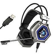 主導のマイク付きnosieコンピュータのPCゲーマー重低音のヘッドセットをキャンセルxiberiaのX13プロUSB 7.1 sourroundのsteroゲーミングヘッドフォン