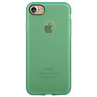 Til Matt Etui Bakdeksel Etui Ensfarget Myk TPU til Apple iPhone 7 Plus iPhone 7