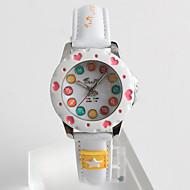 Modieus horloge Kwarts / PU Band Heart Shape Vrijetijdsschoenen Wit Wit
