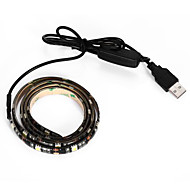 brelong usb 90cm 6.5w 500lm DC5V 5050 27 lamppu vesitiivis IP65 viileä valkoinen TV / laptop taustavaloa