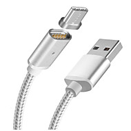 Magnetic Charging Cable USB Type-C Adapter Cable Charge For Huawei P9 Nexus LG G5 Xiaomi 4C 5 Meizu Pro 5 6 Nokia Lumia 950 N1