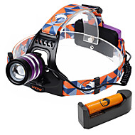 U'king ZQ-G70000DPurple CREE T6 LED 2000LM 3Mode Adjustable Focus Headlamp Bike Light Kit for Camping/Hiking/Caving Everyday Use Cycling