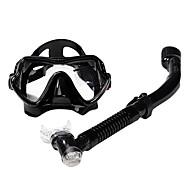 Tauchmasken Schnorchel Schwimmbrille Schnorchelset Ventilschnorchel Tauchen und Schnorcheln Glas Silikon-SBART