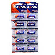10 חבילות 5pc / כרטיס 12v 23a סוללות אלקליין 12V pkcell