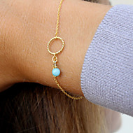 Chain Bracelet Turquoise Alloy Bohemian Handmade Movie Jewelry Circle Jewelry Twist Circle Gold Silver Jewelry 1pc