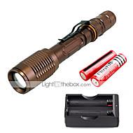 Iluminación Linternas LED Kits de Linternas LED 2000 Lumens 5 Modo Cree XM-L T6 18650.0 Enfoque AjustableCamping/Senderismo/Cuevas De Uso