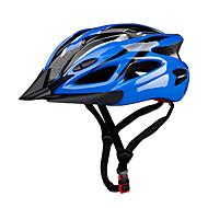 スポーツ 男女兼用 バイク ヘルメット 18 通気孔 サイクリング サイクリング マウンテンサイクリング ロードバイク レクリエーションサイクリング ハイキング 登山 PC EPS イエロー レッド ブルー パープル