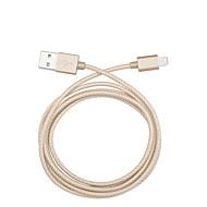 Lightning Kabel Opladerkabel Opladerledning Data & Synkronisering Flettet Kabel Til Apple iPhone iPad 100 cm Nylon