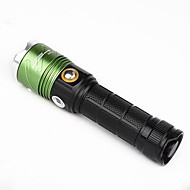 U'King ZQ-X1032G CREE XML T6 2000LM 3Mode Flashlight Torch with Purple UV Light