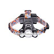 Hodelykter LED 6000 Lumens 3 Modus Cree XM-L T6 18650 Justerbart Fokus KompaktstørrelseCamping/Vandring/Grotte Udforskning Dagligdags