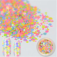 1 bottle Nail Art-klistermärken Glitter & Puder makeup Kosmetisk Nail Art-design
