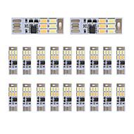brelong mörkläggning usb 3W 6x5730 natten lätt beröring switch Touch Dual ljus färg (DC5V) 20st