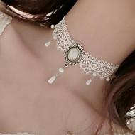 Γυναικεία Κολιέ Τσόκερ Απομίμηση Μαργαριτάρι Flower Shape Απομίμηση Μαργαριταριού Δαντέλα Τατουάζ Κρεμαστό Φλοράλ Κοσμήματα Για Γάμου