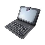 Drukuj wzór pu skórzane etui z klawiaturą bluetooth do tabletu ipad mini 1/2/3/4 i 78 calowej uniwersalnej tabletki (różne kolory)