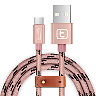 USB 3.0 タイプC 編み ケーブル 用途 Samsung Huawei Sony Nokia HTC Motorola LG Lenovo Xiaomi 150 cm ナイロン アルミニウム TPE