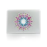 1 stk Ridsnings-Sikker Blomst Transparent plastik Klistermærke Selvlysende Mønster ForMacBook Pro 15'' with Retina MacBook Pro 15 ''