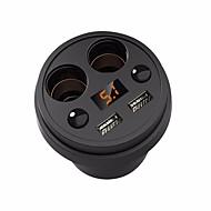 Multiporte Cigarettænderstik Andre 2 USB-porte Kun oplader Bil 5V/3.1A