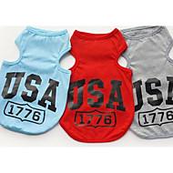 Hunde T-shirt Weste Hundekleidung Sommer Buchstabe & Nummer Lässig/Alltäglich Grau Rot Blau
