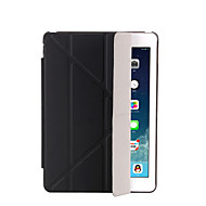 For iPad (2017) with Stand Auto Sleep/Wake Flip Translucent Origami Case Full Body Case Solid Color Pro 9.7 Air iPad 2/3/4 mini 123