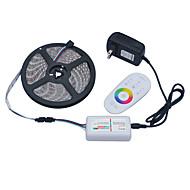 jiawen 5メートル5050SMD RGB LEDストリップ光60leds / M 2aをDC12V電源アダプタトランス2.4GのRFリモコン