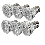 4W E26/E27 Spot LED 4 LED Haute Puissance 360 lm Blanc Froid V 6 pièces