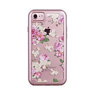 For Apple iPhone 7 7 Plus 6S 6 Plus Case Cover Orchid Pattern Painted TPU Material Plating PC Frame Combo Phone Case
