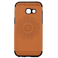 For Samsung Galaxy A3(2017) A5(2017) Embossed Sunflower Pattern PU leather and Black TPU Combo Soft Phone Case for A7(2017)