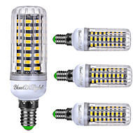 YouOKLight 4PCS E14 6W AC220-240V 72*5733 SMD LED Intelligent IC Control Cole White/Natural White/Warm White Three-segmented Dimmable LED Corn Bulb