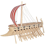 Jigsaw Puzzles DIY KIT Building Blocks 3D Puzzles Educational Phoenicia Warship Wooden Puzzles Building Blocks DIY Toys