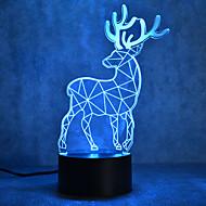 Weihnachten Milu Hirsch Schildkröten Touch Dimmen 3d führte Nachtlicht 7colorful Dekoration Atmosphäre Lampe Neuheit Beleuchtung
