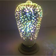 1adet e27 st64 4w 400-450lm havai fişek 3d edison sıcak beyaz lamba ampul ac85-265v açtı