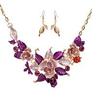 Žene Vintage ogrlice Jewelry Cvjetni print Flower Shape 1 Ogrlica 1 par naušnica Za Vjenčanje Party Special Occasion DnevnoVjenčanje