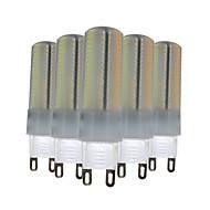 6W G9 LED Bi-Pin lamput T 136 SMD 3014 500-600 lm Lämmin valkoinen Neutraali valkoinen Valkoinen Himmennettävä Koristeltu V 5 kpl