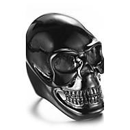 Duże pierścionki Pierscionek Modny Styl Punk Osobiste Hip-Hop Rock euroamerykańskiej Stal tytanowa Skull shape Gold White Black Biżuteria
