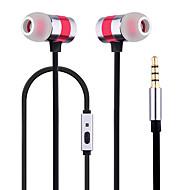 휴대 전화 핸드폰 컴퓨터 in-ear 유선 금속 3.5mm 마이크 잡음 제거 기능