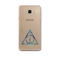 Til Samsung A3 (2017) A5 (2017) A7 (2017) A8 Taske Cover Ultra Tynt Mønster Bag Cover Etui Geometrisk Mønster Soft TPU til Samsung A3