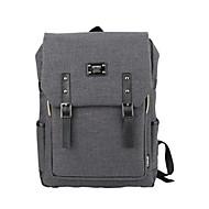 15.6 inch Ultra-Light Portable Computer Backpack Korean Style Shoulder Bag Waterproof Pure Color Unisex