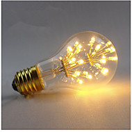 3W E27 Bec Filet LED A60(A19) 3 COB 300 lm Alb Cald Reglabil Decorativ AC 220-240 V 1 bc